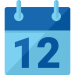 Blue calendar icon to show monthly subscription with the Citadel Connect.